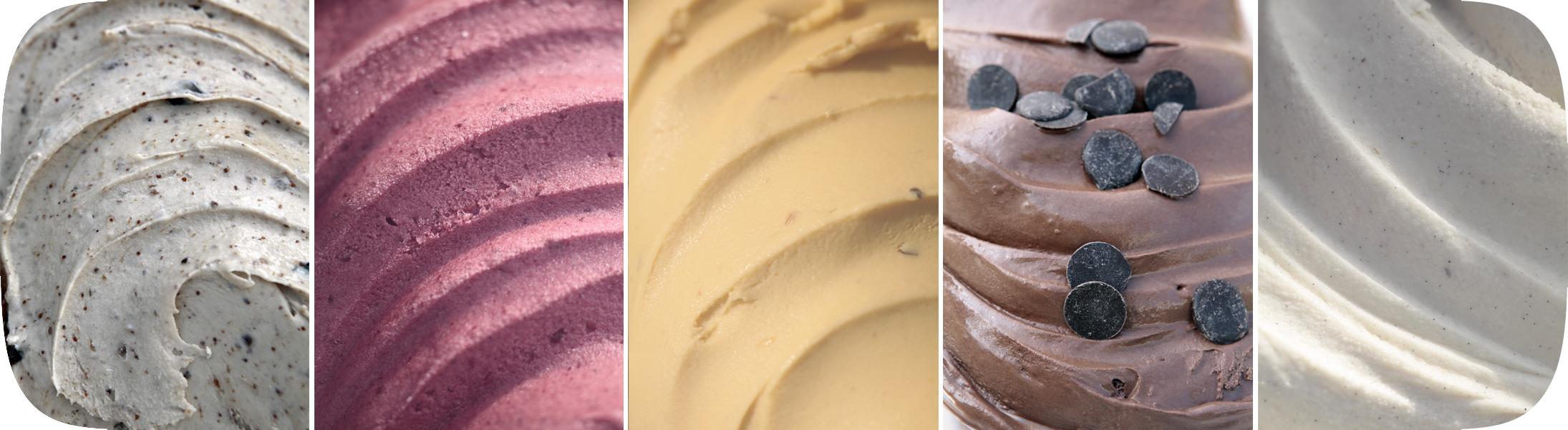distintos sabores de helados artesanales